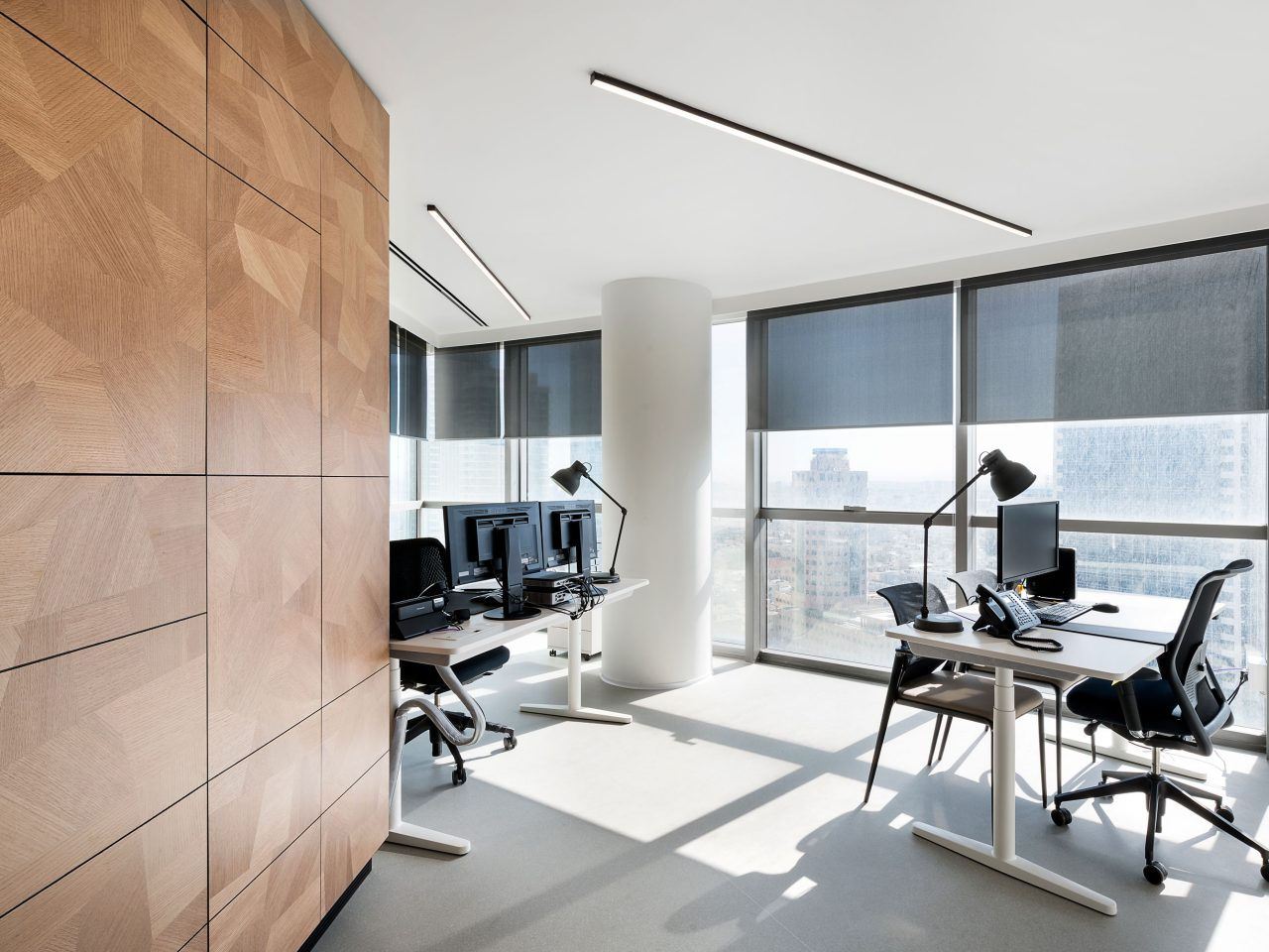 Pictet Offices with seamless BASWA Phon acoustic plaster